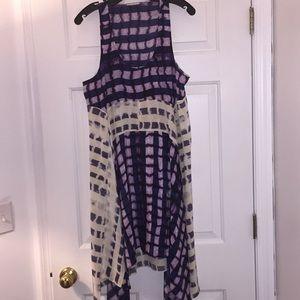 Bcbgmaxazria Runway Asymmetrical Silk Dress